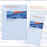 no. 6: q-mo solar / broschüren  kreation: sabine schmitt
