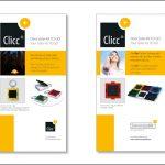 no. 2: clicc – eine marke der sonnenrepublik / flyer  kreation: sabine schmitt
