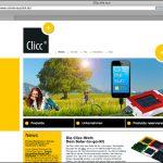 no. 2: clicc – eine marke der sonnenrepublik / webseite www.clicc.dekreation:sabine schmitt
